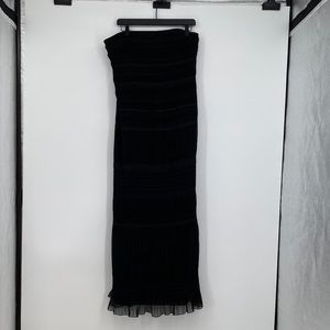 Kay Unger maxi dress gown long strapless black
